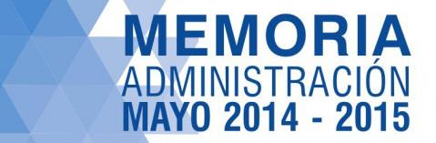 Memoria Administración Mayo 2014 – 2015
