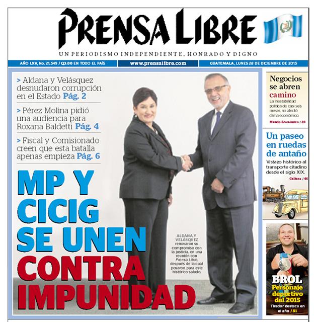 B MP Y CICIG SE UNEN CONTRA IMPUNIDAD