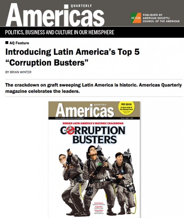"A Introducing Latin America's Top 5 ""Corruption Busters"""
