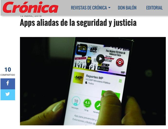 Apps aliadas de la seguridad y justicia